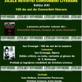 ZILELE REVISTEI CONVORBIRI LITERARE, Ediția XXI – 150 de ani de Convorbiri literare