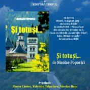 Lansare de carte: Și totuși…,autor Nicolae Popovici