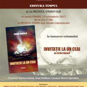 LANSARE DE CARTE: INVITAȚIE LA UN CEAI,autor Petru Frăsilă