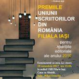 Premiile USR Filiala Iasi pentru aparitiile editoriale ale anului 2016