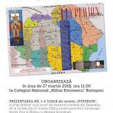 """Botoșani: Prezentarea nr. 1/ 2018 al revistei """"Hyperion"""", dedicat literaturii române din Basarabia în ultimul secol"""