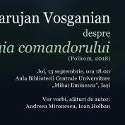LANSARE CARTE: Statuia comandorului, autor Varujan Vosganian