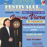 """FESTIVALUL INTERNAŢIONAL DE POEZIE """"GRIGORE VIERU"""", ediția a XI-a"""